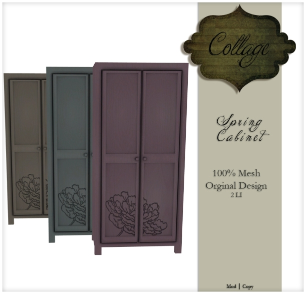 Collage Spring Cabinets